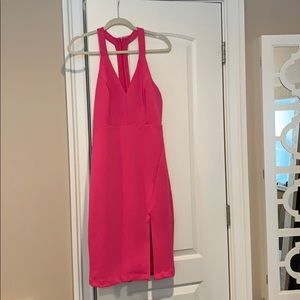 Lulus hot pink cocktail dress. Worn once!!